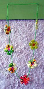 Bracelets LOOM - Design textile by Myriam Balaÿ me_my045-11 Perles et fleurs L'appartement
