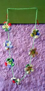 Bracelets LOOM - Design textile by Myriam Balaÿ me_my048-11 Perles et fleurs L'appartement