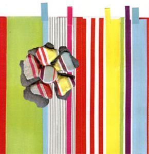 Bracelets LOOM - Design textile by Myriam Balaÿ me_myfleur1 Bijoux fleur en tissu (2003/2004) L'appartement