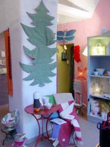 Bracelets LOOM - Design textile by Myriam Balaÿ passages-sapin-11 Boutique Passages : ambiances Noël 2003 Passages