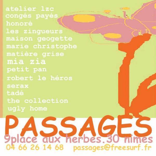 Bracelets LOOM - Design textile by Myriam Balaÿ carte-passages1 Boutique Passages: les cartes de visite Passages