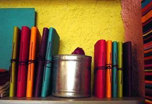 Bracelets LOOM - Design textile by Myriam Balaÿ miaziabook2 Cahiers Mia Zia Passages