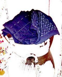 Bracelets LOOM - Design textile by Myriam Balaÿ indigo-1 Caravane Passages