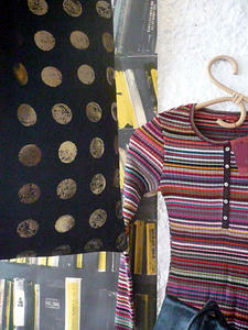 Bracelets LOOM - Design textile by Myriam Balaÿ miaziapull-11 Mia Zia automne hiver 2007 Passages