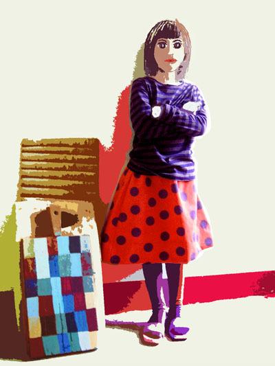 Bracelets LOOM - Design textile by Myriam Balaÿ poisviolet1-copie-11 La palette du jour: graphique me&myself