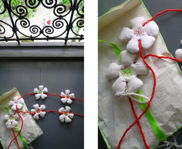 Bracelets LOOM - Design textile by Myriam Balaÿ cadeau rencontre au sommet & plongée dans le patio L'appartement