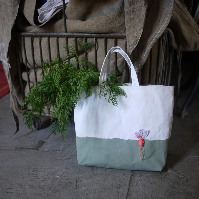 Bracelets LOOM - Design textile by Myriam Balaÿ myriam-balay-cabas-e1369637339907 terre d'argile verte pour small radish bag L'appartement