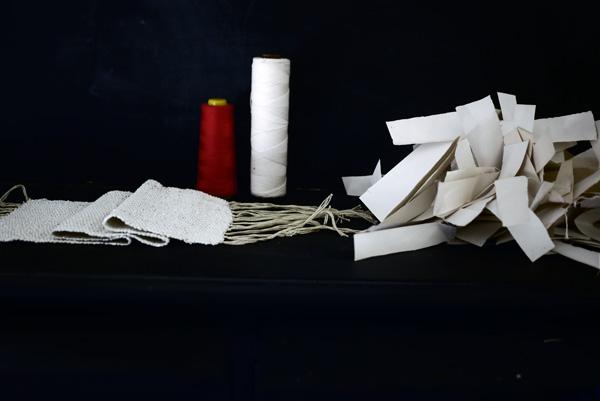 Bracelets LOOM - Design textile by Myriam Balaÿ myriam-balay-tissage-papier paper weaving L'appartement