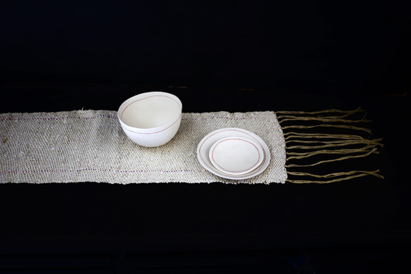 Bracelets LOOM - Design textile by Myriam Balaÿ myriam-balay-tissage-papier1 paper weaving L'appartement