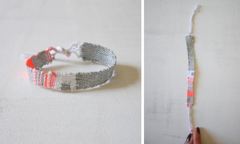 Bracelets LOOM - Design textile by Myriam Balaÿ myriam-balay-bracelet-fluo162-e1425389896573 bracelet LOOM N°16 L'appartement  weaving textile neon loom bracelet argent