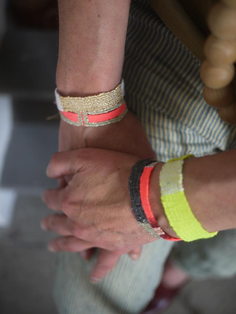 Bracelets LOOM - Design textile by Myriam Balaÿ myriam-balay-bracelet a colorful day L'appartement  textile mbd color bijou