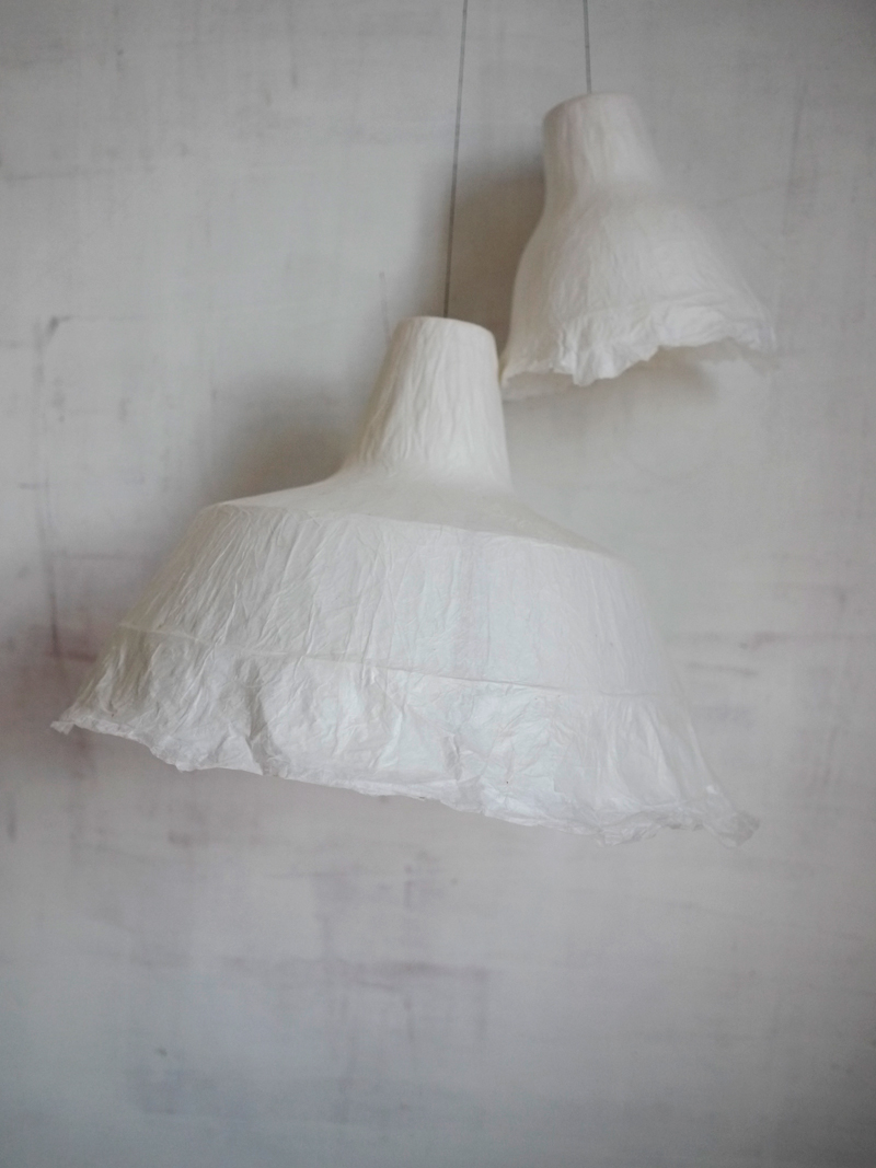 Bracelets LOOM - Design textile by Myriam Balaÿ myriam-balay-lampe2 WHITE PAPER LAMPSHADE L'appartement