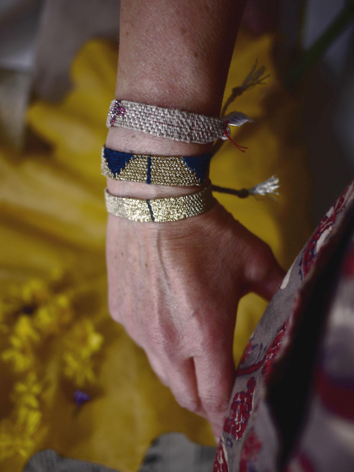 Bracelets LOOM - Design textile by Myriam Balaÿ myriam-balay-avril VUE d' ATELIER L'appartement