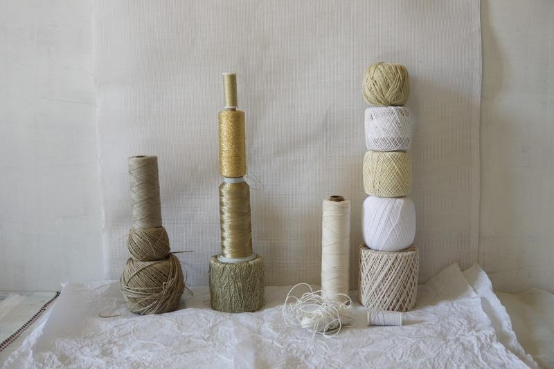 Bracelets LOOM - Design textile by Myriam Balaÿ myriam-balay-bobine work in progress L'appartement