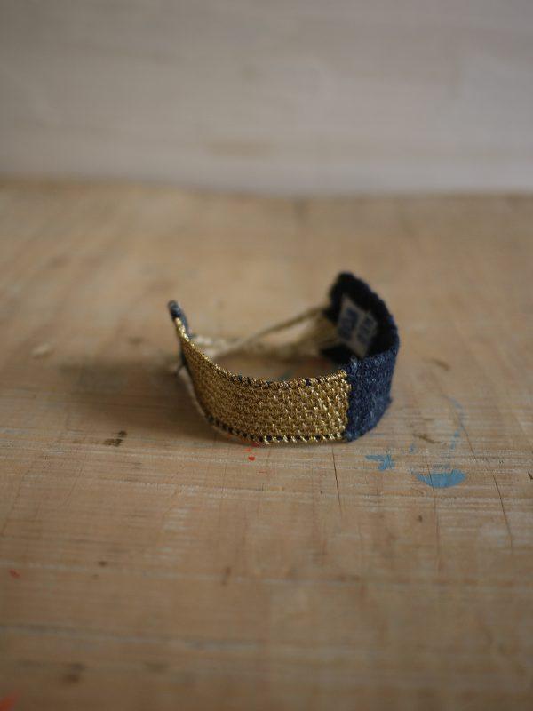 Myriam Balaÿ bracelet LOOM n°08 Denim Gold