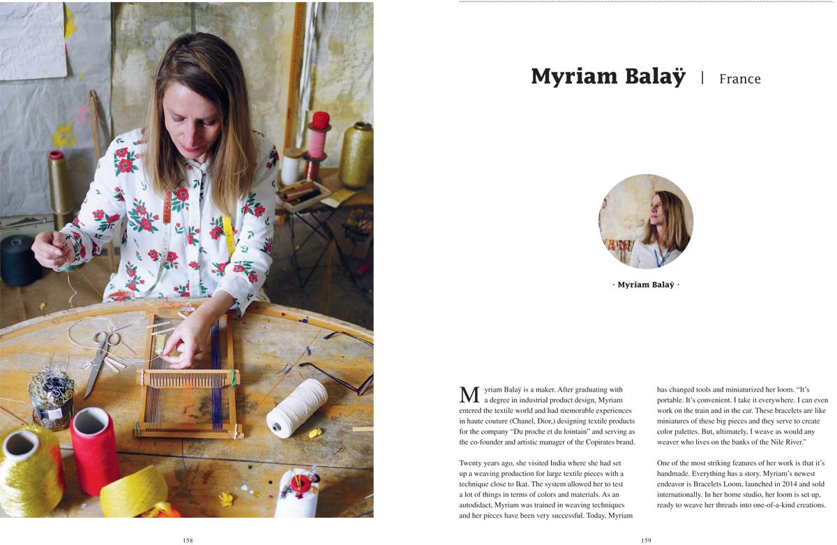 Bracelets LOOM - Design textile by Myriam Balaÿ Myriam-Balaÿ-Woven-Together_SANDU_def-1 Vient de paraitre : Woven Together, Weavers & Their Stories L'appartement