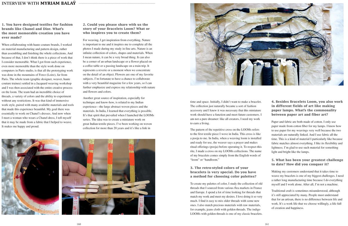 Bracelets LOOM - Design textile by Myriam Balaÿ Myriam-Balaÿ-Woven-Together_SANDU_def-2 Vient de paraitre : Woven Together, Weavers & Their Stories L'appartement